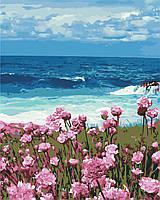"""Картина за номерами """"Квіти біля моря"""" 40*50см"""