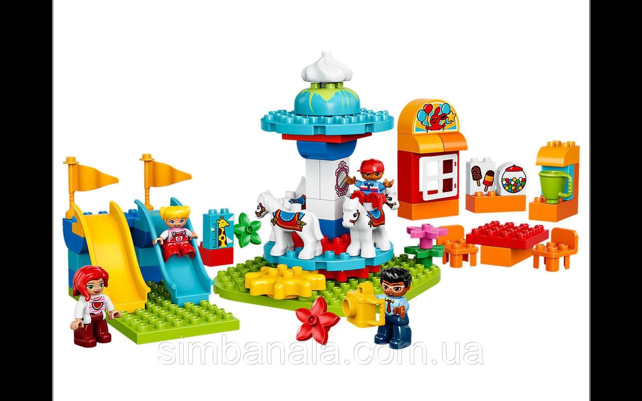 Конструктор LEGO DUPLO Семейный парк аттракционов (61 деталь)