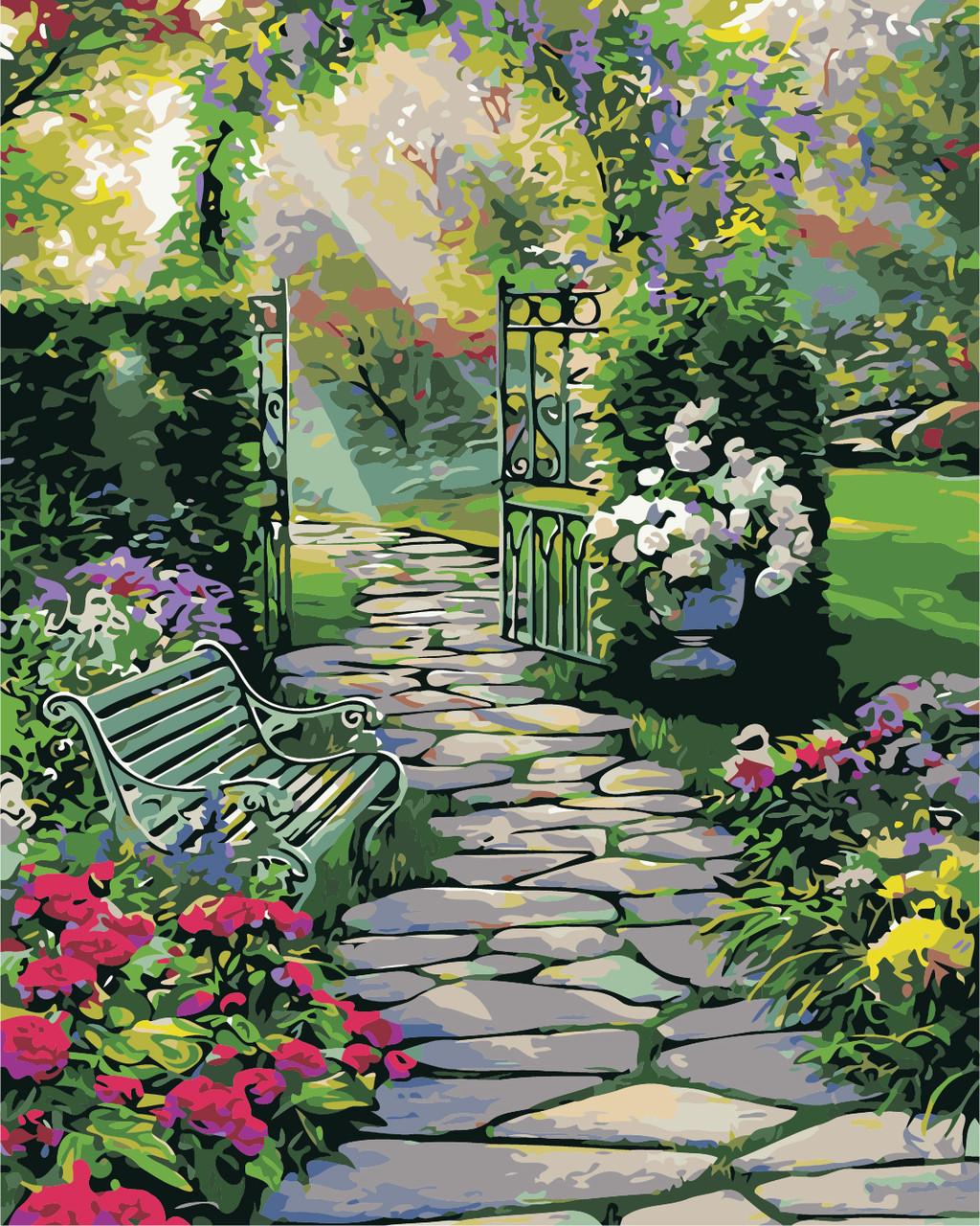"""Картина по номерам """"Волшебный сад"""" 40*50см"""