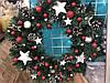 Декоративный новогодний венок  (Ручная работа)