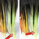 🍋 Яркие цветные пряди неоново зелёно желтого цвета  на заколках 🍋, фото 8