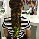 🍋 Ядовито лимонные цветные пряди волос на заколках 🍋, фото 6