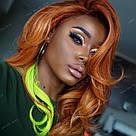 🍋 Кольорові пряді волосся на заколках кліпсах шартрез 🍋, фото 5