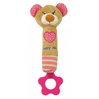 Игрушка пищалка для руки Мишка Baby mix STK16431P