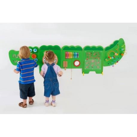 Настенная игрушка Viga Toys бизиборд Крокодил (50346)