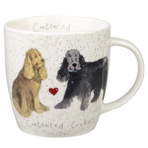 Кружка Churchill Queens Contented Cockers Squash mug 400 мл (ALCK10211)