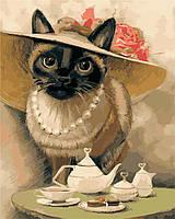 "Картина по номерам ""Леди-кошка"" 40*50см, фото 1"