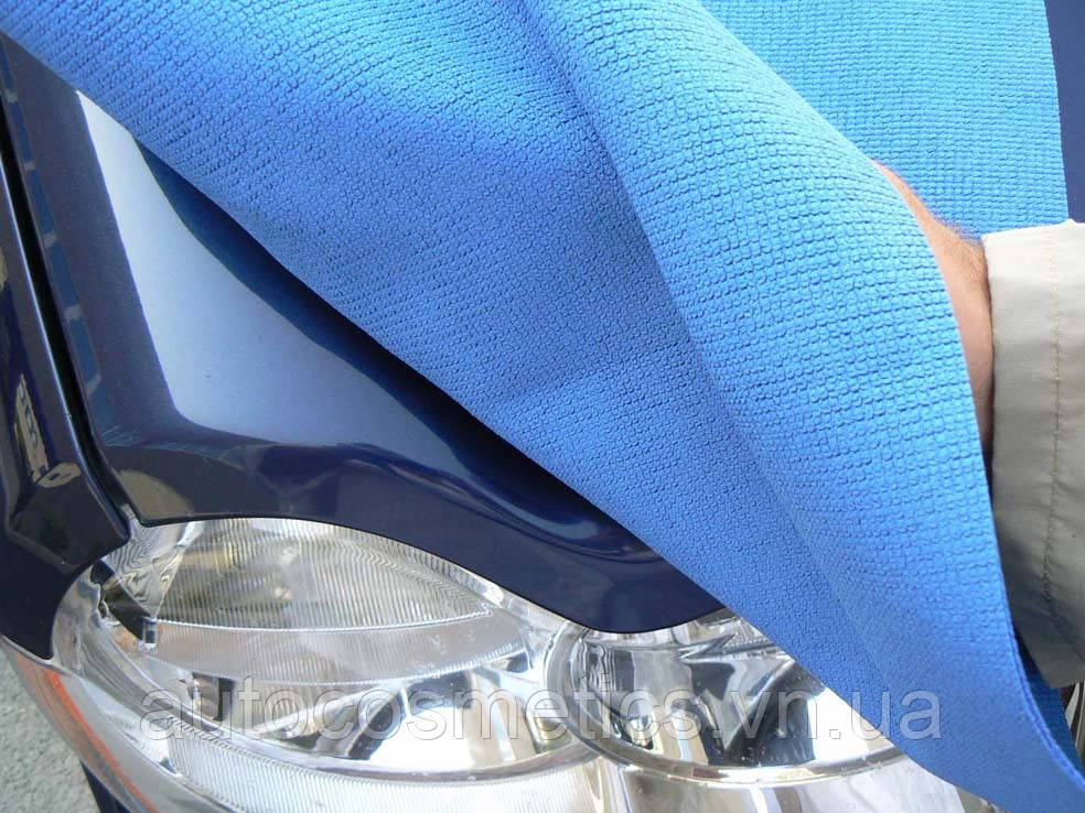 Искусственная замша микрофибра + PVA 50х44 синяя