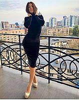 НОВИНКА 2018-2019! Эффектное, женское, бархатное платье-гольф РАЗНЫЕ ЦВЕТА, фото 1