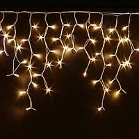 Гирлянда Мини штора (Icicle) 5м х 0,6м Белый кабель-Тепло белое свечение, фото 1