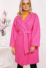 Шикарное женское демисезонное пальто цвет-карри меланж размеры:38,40,42, фото 2