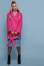 Шикарное женское демисезонное пальто цвет-карри меланж размеры:38,40,42, фото 3