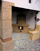 Декоративная штукатурка каминов Графито