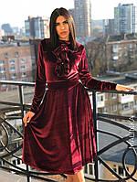 НОВИНКА 2018-2019! Шикарное, женское, бархатное платье-миди РАЗНЫЕ ЦВЕТА, фото 1