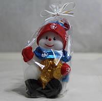 Снеговик с деньгами / Свеча Новогодняя 10x5 см