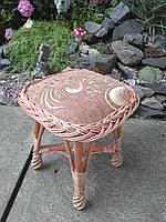 Табурет из лозы с мягкой сидушкой, фото 1