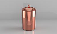 Емкость медная ZH для хранения чая, кофе, специй