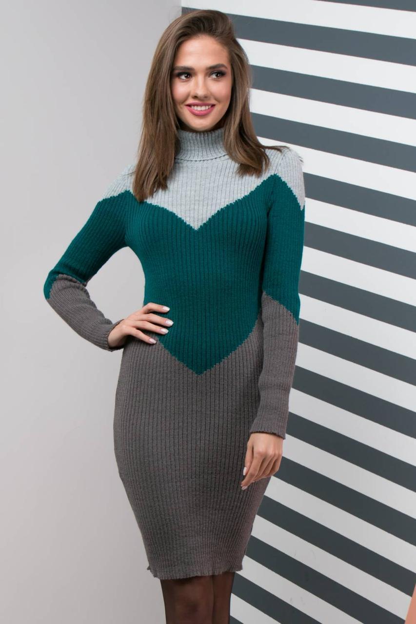 ee6daa1d090a Стильное вязаное платье для офиса на каждый день Размер универсальный 42-48  - купить ...