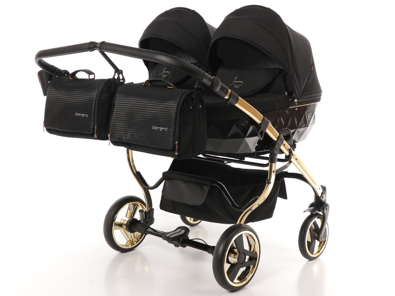 Дитяча коляска для двійнят 2 в 1 Junama Diamond Duo S-Line