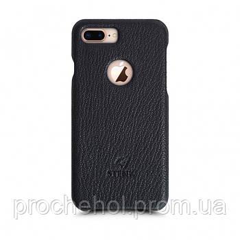Кожаная накладка Stenk Cover для Apple iPhone 8 Plus Черный