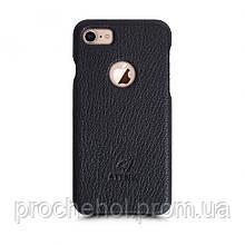Кожаная накладка Stenk Cover для Apple iPhone 7 Черный