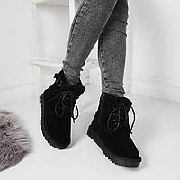 Ботинки зимние черные натуральная замша код 22399, фото 1
