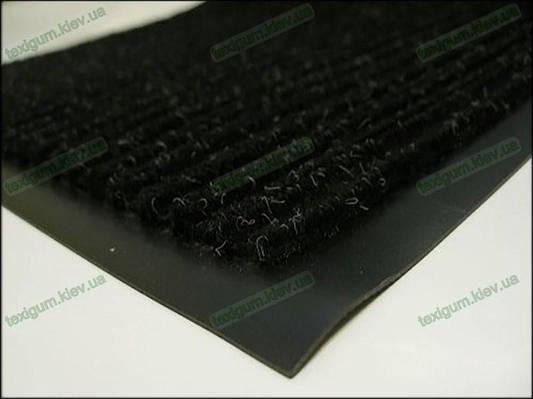 Грязезащитный ковер Рубчик-К  90х150см. черный