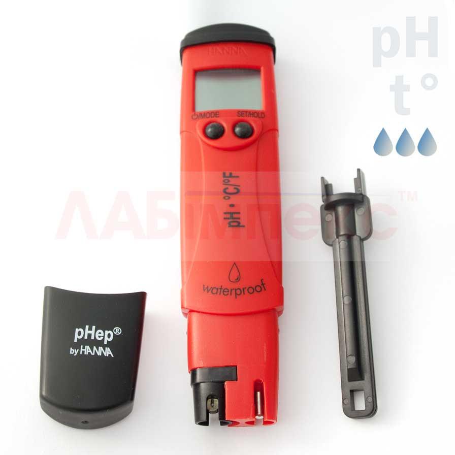 PН метр HI 98128 pHep 5 -2-16 pH, ± 0.05 pH, автокалибровка, АТС
