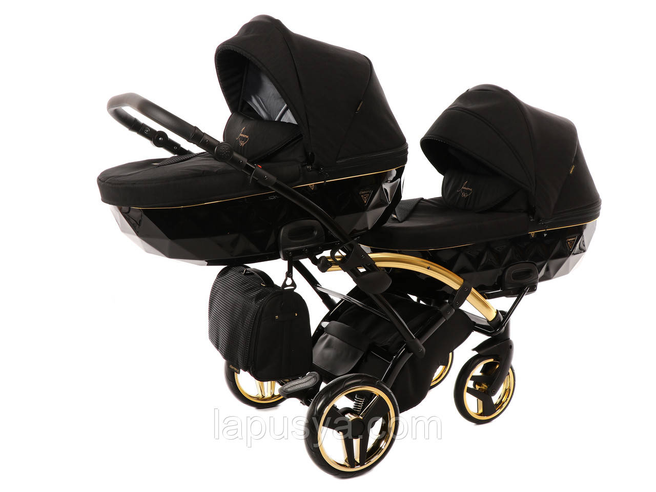 Дитяча коляска для двійнят Junama Diamond Duo Slim S-Line