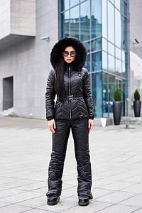 Женский зимний костюм: куртка с капюшоном и штаны. А-7-1118