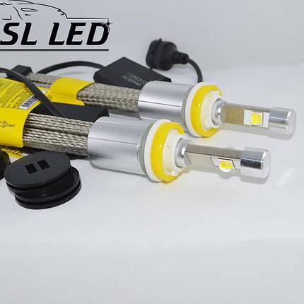 Комплект LED ламп в головной свет серии SLP70 Цоколь H11, H8, H9, 48W, 6600 Люмен/Комплект, фото 2