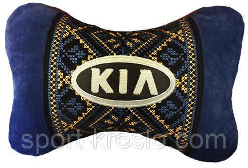 Автомобильная подушка подголовник с логотипом