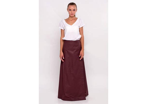 Комплект блуза юбка на запах, фото 2