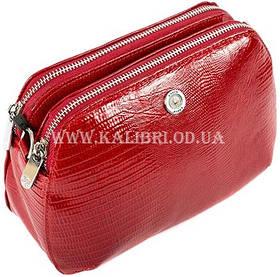 Розпродаж! Жіночий шкіряний червоний клатч Karya під рептилію 0810-074 Туреччина