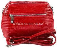 Розпродаж! Жіночий шкіряний червоний клатч Karya під рептилію 0810-074 Туреччина, фото 3