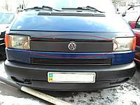 Накладка зимняя на решетку радиатора Volkswagen T-4 прямые фары