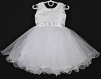 """Платье нарядное детское """"Молли"""" с вышивкой 2-3 года. Белое. Купить оптом и в розницу, фото 1"""