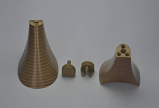 Каблук женский 10037 Kadir, 7.0 см, бежевый, 37-38