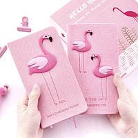 "Блокнот с рисунком 3D ""Фламинго"" с ручкой , фото 1"