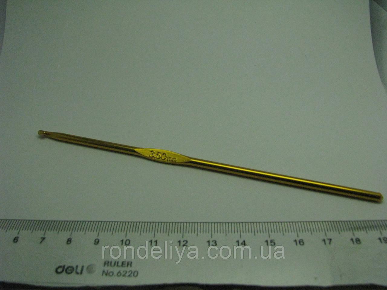 Крючок для вязания цельнометаллический размер № 3,5