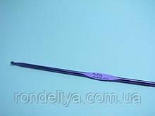Крючок для вязания цельнометаллический размер № 2,5