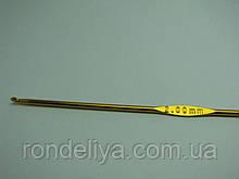 Крючок для вязания цельнометаллический размер № 2