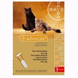 ADVOCATE (АДВОКАТ) капли от блох для котов весом до 4 кг, 1 пипетка