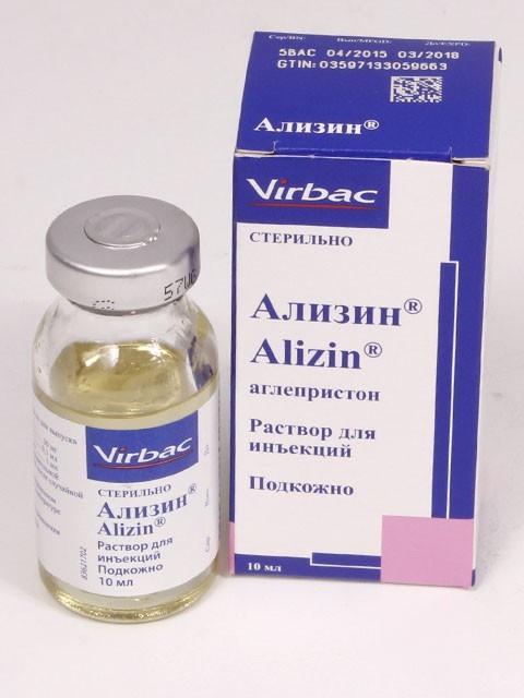 ALIZIN АЛИЗИН для прерывания нежелательной беременности в период до 45 суток после случайной вязки, 10 мл