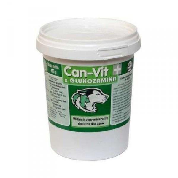 CAN VIT (Кан-вит) зеленый, витаминная добавка с глюкозамином для крупных и быстрорастущих собак, 400 гр