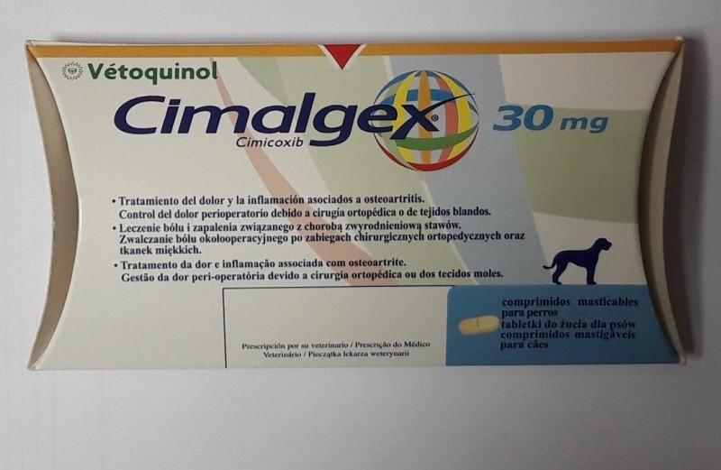 CIMALGEX 30 mg СИМАЛДЖЕКС 30 мг 16 таблеток для лечения опорно двигательной системы у собак