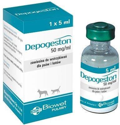DEPOGESTON ДЕПОГЕСТОН для регуляции половых функций у кошек и собак, 5 мл