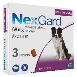 NEXGARD (НЕКСГАРД) таблетки от блох и клещей для собак весом от 10 до 25 кг, 1 таб.
