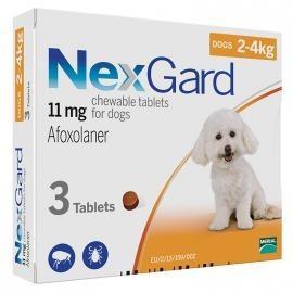 NEXGARD (НЕКСГАРД) таблетки от блох и клещей для собак весом от 2 до 4 кг,1 таб.
