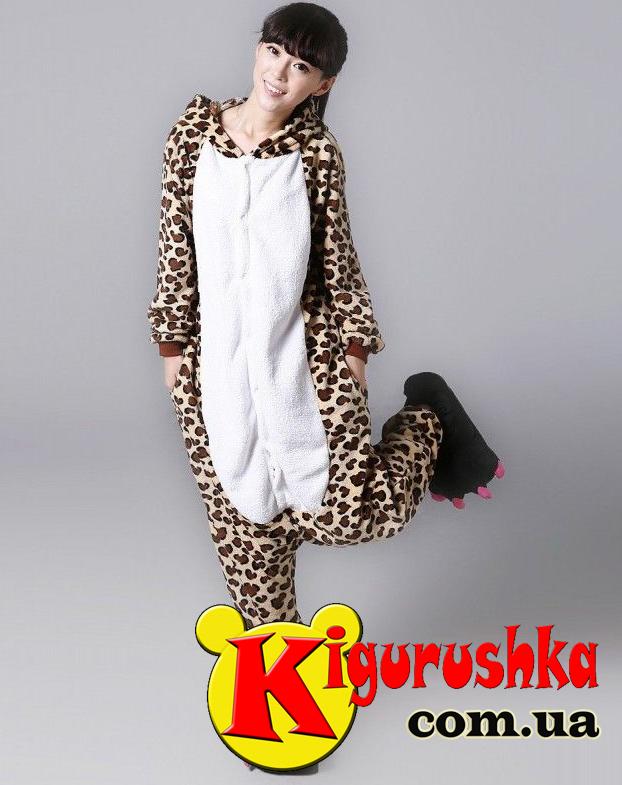 Пижама Леопард кигуруми для взрослых - Интернет-магазин